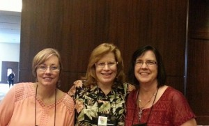 Jennifer Hallmark, Linda Yezak, and me at ACFW