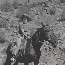 Grandma Audrie Horseback